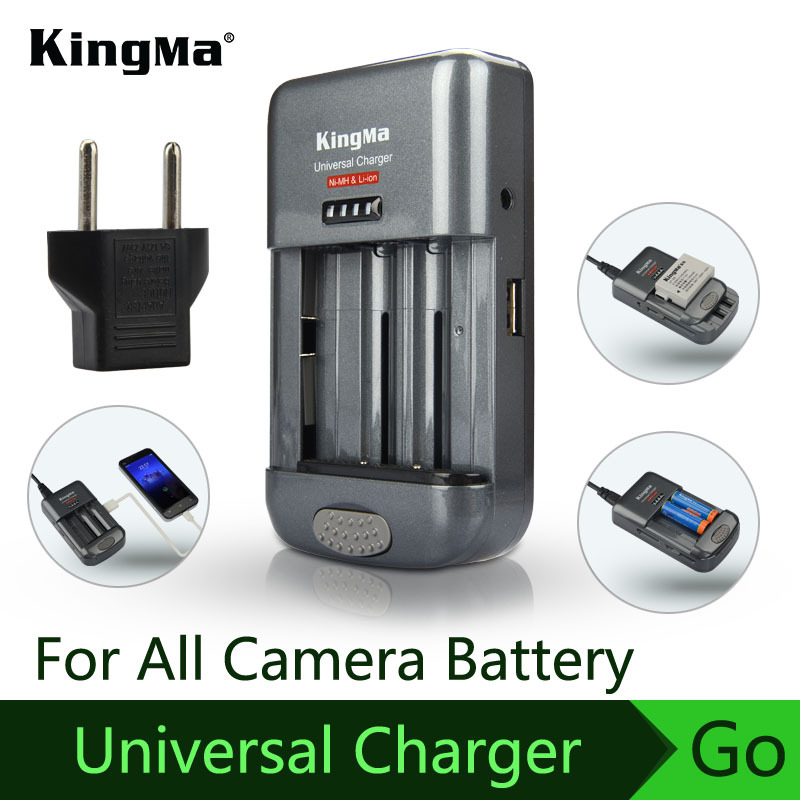 KingMa Universal charger + Car charger Digital DSLR camera/xiaomi yi camera/all Mobile/Learning machine/No. 5/7 Gopro battery(China (Mainland))