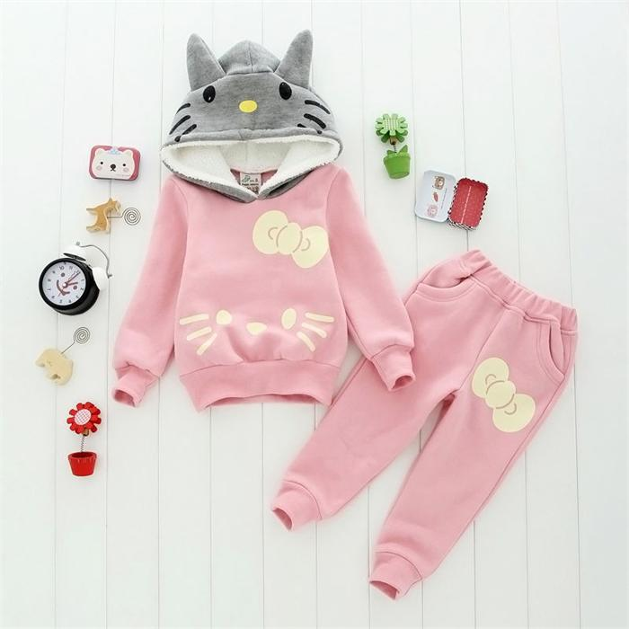 New 2015 children clothing baby girls Sport style girl suit/ long sleeve hoodie +long pants/ children knitted 1227(China (Mainland))