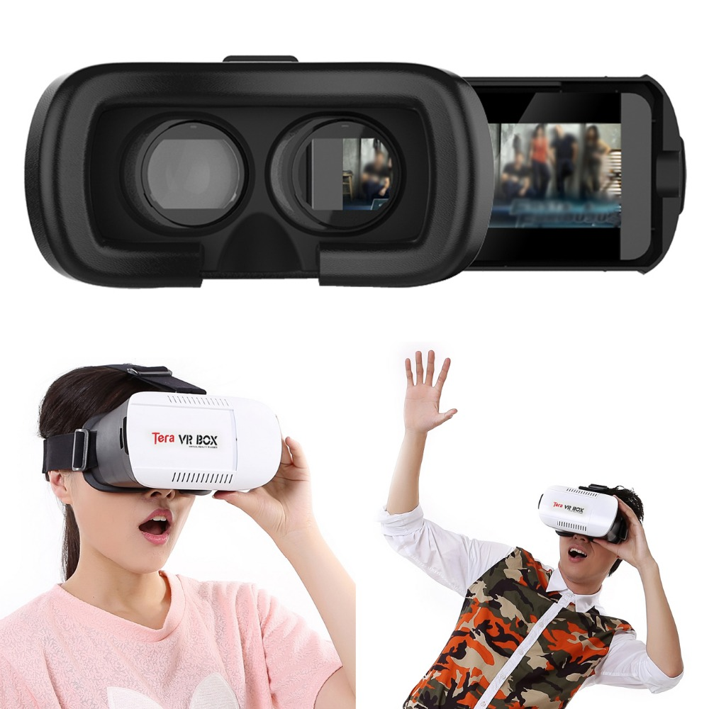 Tera Google cardboard VR BOX Virtual Reality 3D Glasses Watch movie and Game for 4.7 - 6 Smartphone(China (Mainland))
