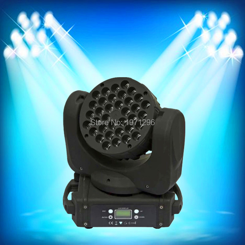 New Led Beam 36*3w 4in1 Rgbw Cree Moving Head Light 100v-240v Professional Stage Dj /Bar/Home Entertainment Lighting Effect