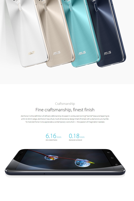 "Original Asus ZenFone 3 ZE552KL mobile phone Android 6.0 Qualcomm Octa Core 2.5D gorilla glass 4G RAM 64G ROM 1080P 5.5"" 16.0MP"