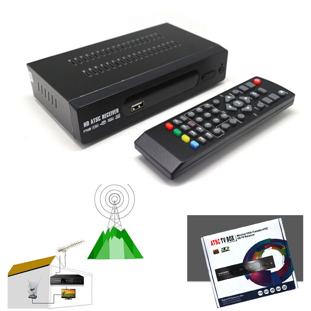 PVR ATSC Digital Broadcast TV Converters BOX HD RECEIVER USA/Canada/Mexico/Korea Channel NTIA ATSC TV Receiver<br><br>Aliexpress