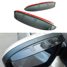 2Pcs/Set CarStyling Rearview Mirror Rain Eyebrow Shield Cover Flexible Protector PVC Accessories For Toyota Camry 2012 2013 2014(China (Mainland))