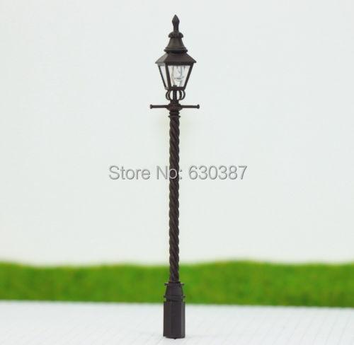LQS03 5pcs Model Railway Train Antique Lamp Post Street Light HO OO TT Scale NEW(China (Mainland))