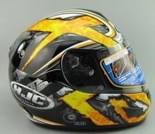 Authentic Korean car racing helmet HJC motorcycle helmet full helmet warm yellow CL-16 Black Cross S-XXL(China (Mainland))