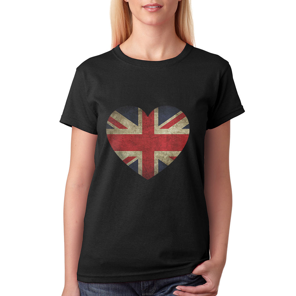 Design t shirt online uk - Love Heart Uk Women S Black T Shirt New Sizes S Xl New Summer Arrivals