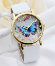 Buy Gnova Platinum Blue Butterfly Watch Women Soft PU leather casual wristwatch picture ART golden watch Geneve Style Fashion Girl for $2.99 in AliExpress store