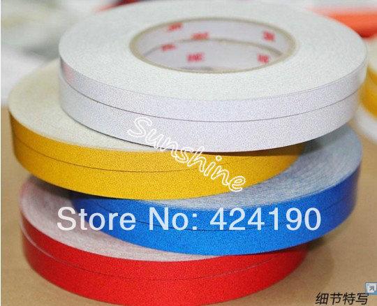 Super 3M Reflective Sticker car reflective tape Decoration Stripe 1cmx45.7m/roll Luminous Tape Reflective Strip Decal Vinyl(China (Mainland))