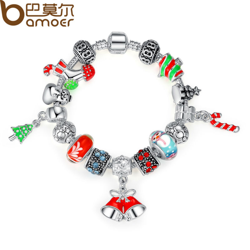 Bamoer High Quality Chain Bracelet for Women With Exquisite Murano Glass Beads Christmas Charm Gift DIY Gift PA1805<br><br>Aliexpress