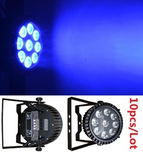 10x DJ Disco Par Led 9x10W RGBW Stage Light DMX Strobe Flat Luces Discoteca Party Lights Laser Luz Projector Lumiere Controller(China (Mainland))