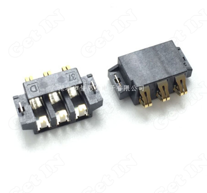 500pcs  Battery Connectors Holder horizontal SMD 3Pins for Phone and Other Digital Product<br><br>Aliexpress