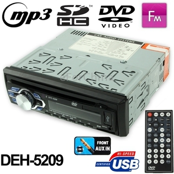 Kinds of Media Formats Car DVD Player Fixed Panel  FM / SD/ MMC Card/ USB/ Front AUX-In,Electronic Volume Control