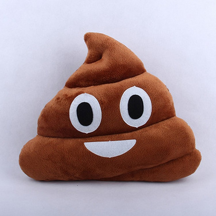 Plush Cushion Emoji Pillow Gift Cute Shits Poop Stuffed Toy Doll Christmas Present Funny Bolster Cojines Pillows Cushions - Great Store store