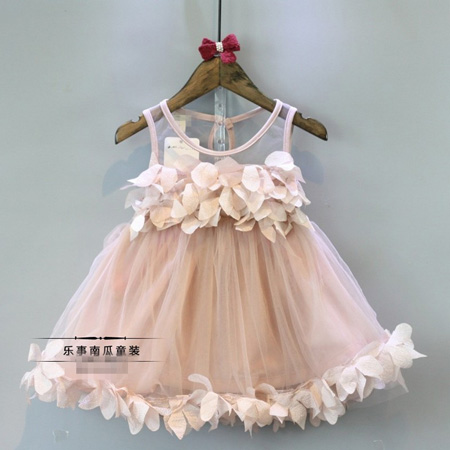 Girls Summer New dresses baby 2016 fashion lace Tulle Princess Party Dresses Floral designer kids clothes Sleeveless Dress(China (Mainland))