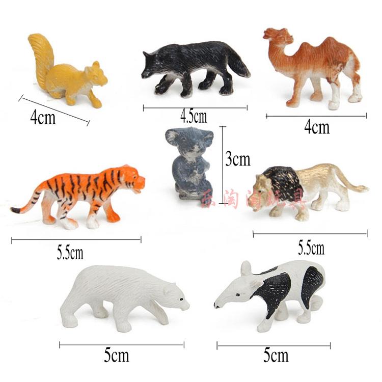 Wild forest animal model simulation plastic toys(China (Mainland))
