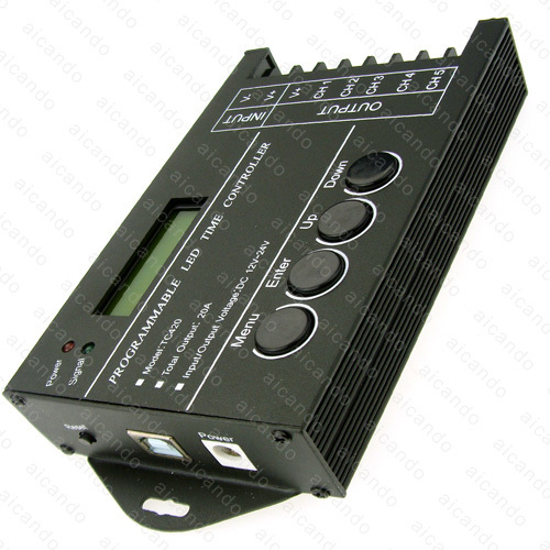 Led time Controller Time Programmable 5 channel DC12-24V 20A Interface TC420 PC for led Aquarium Lighting(China (Mainland))
