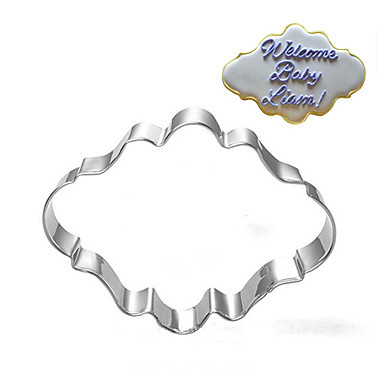 Stainless Steel Blessing Wedding Plaque Frame Fondant Cookie Cutter Biscuit Sugarcraft Kitchen Mould Baking Pastry Tool A011-1(China (Mainland))