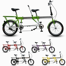 Telescopic Folding Tandem Bike / Built For Two.Foldaway Bicycle as Best Valentines Gift,High Quality !(China (Mainland))