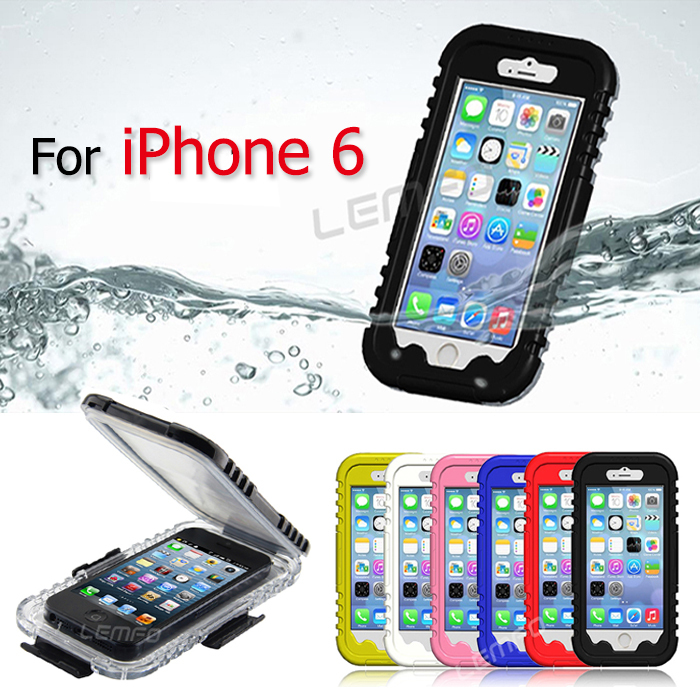 IP-68 Waterproof Cover Case For Apple iPhone 6 6th 4.7'' Water/Snow/Shock /Dirt Proof Heavy Duty Hybrid Swimming Dive Phone Bag(China (Mainland))