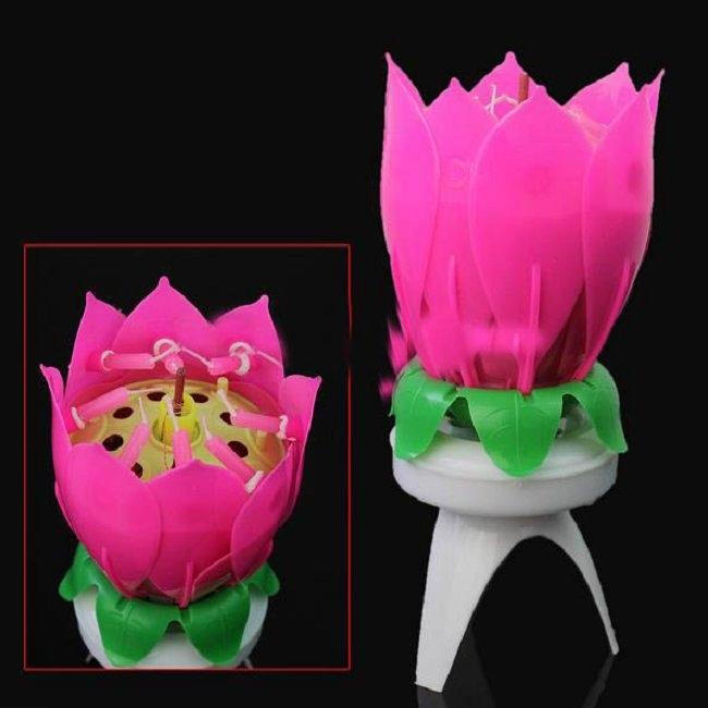 3pcs Musical Lotus Flower 8 Candles Happy Birthday Romantic Party Gift Light Yankee Candle Christmas Velas Decorativas Casamento(China (Mainland))