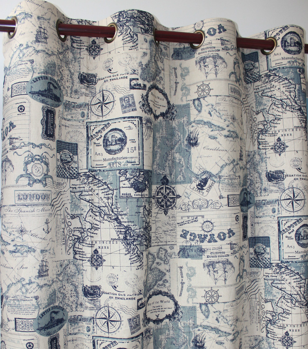 """VEZO HOME new map cotton linen ready window curtain panel door curtain kitchen bedroom living room home decorative curtain51x98""""(China (Mainland))"""