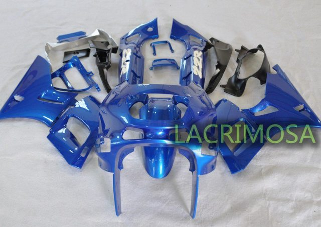 ABS Fairing for Kawasaki ZZR400 93-07 plastic body kits bodykits Injection Mold-Blue