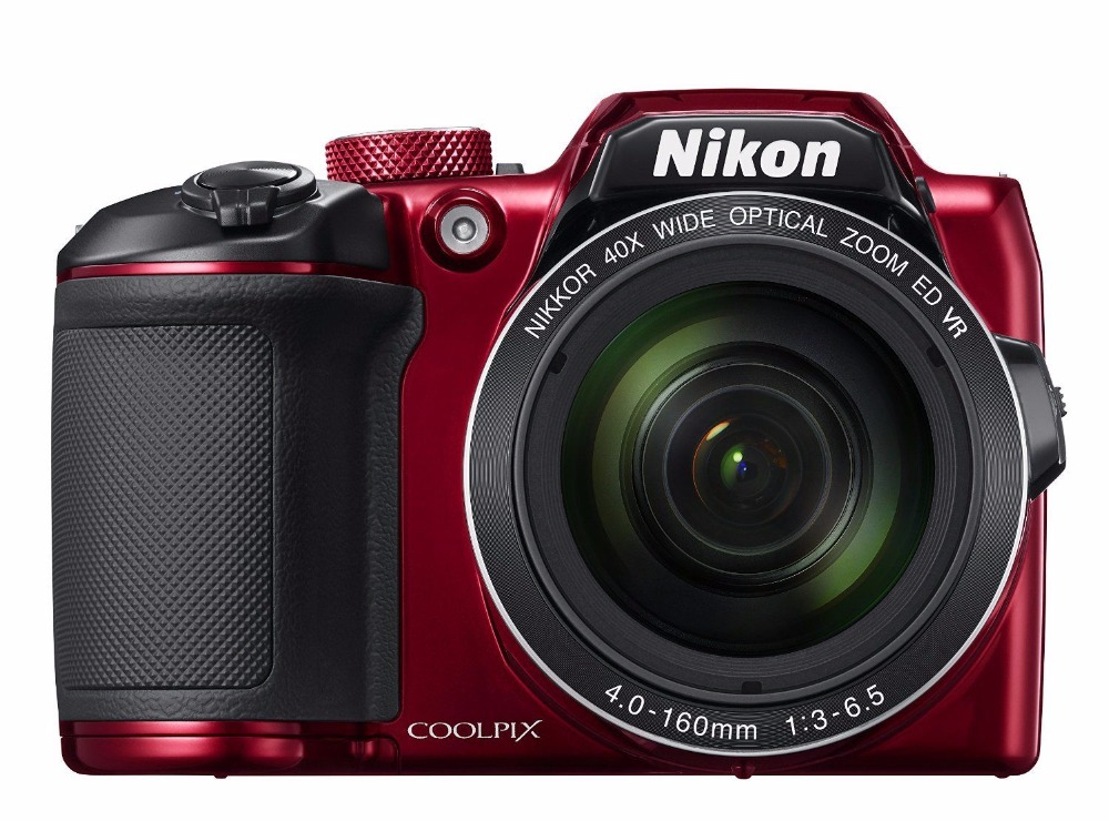 Nikon Coolpix B500 16.0 MP Digital Camera 40x Zoom Full-HD WiFi/ NFC RED(Hong Kong)