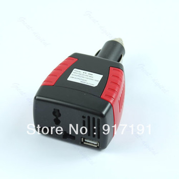 Free Shipping 150W Car Power Inverter Charger Adapter 12V DC To 110/220V AC+USB 5V