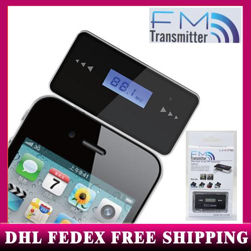 20 pcs Wireless FM Transmitter Radio Modulator Car MP3 Player For iPod iPad iPhone HTC 3.5mm Car Kit 2014 New free DHL FEDEX(China (Mainland))