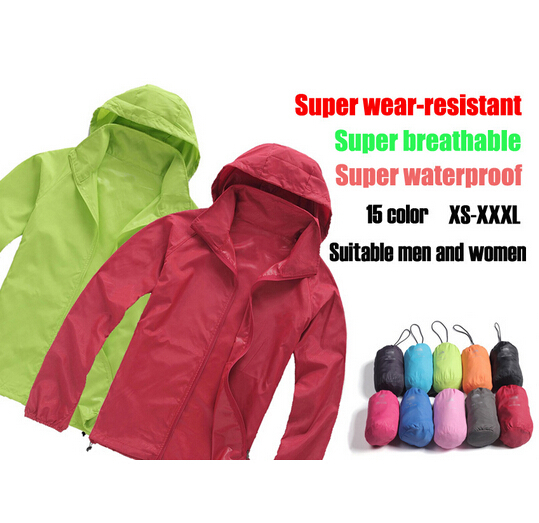 Гаджет  Free shipping 2014 fashion couple models skin ultra-thin breathable outdoor clothing waterproof sunscreen UV windbreaker jogging None Спорт и развлечения