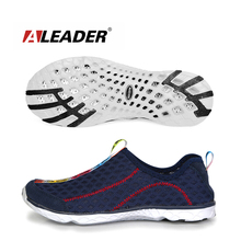 2015 New Men Summer Mesh Shoes Women Slip On Super Cool Sport Water Shoes Walking Comfortable Breathable Men's Shoes zapatos(China (Mainland))