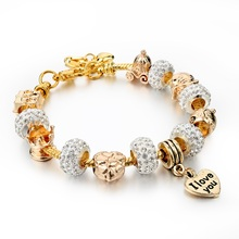 925 Sterling Silver Jewelry Murano Crystal Beads Fit Pandora Bracelets For Women Friendship Charm Bracelets & Bangles SBR150122(China (Mainland))