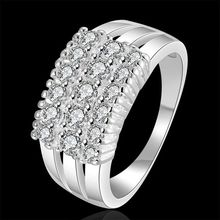 2016 new Wholesale 925 jewelry silver plated ring for ladies, silver pattern jewelry, multi-stone Ring /fdganuna gpmapgta R143