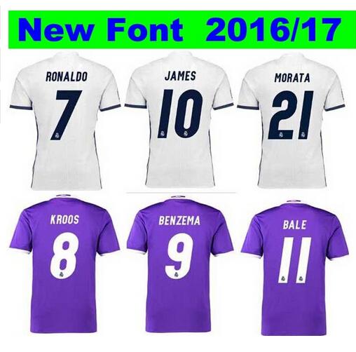 Free shipping 16 17 man Shirt camisa tailandia reales madrides Conjunto de Entrenamiento Shirt uniforms 2016 bambino 2017(China (Mainland))