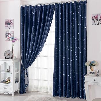 Занавески, не пропускающие свет, шторы для гостиной, украшение для дома, декор квартиры и дома, синие шторы для окна, 1 шт.