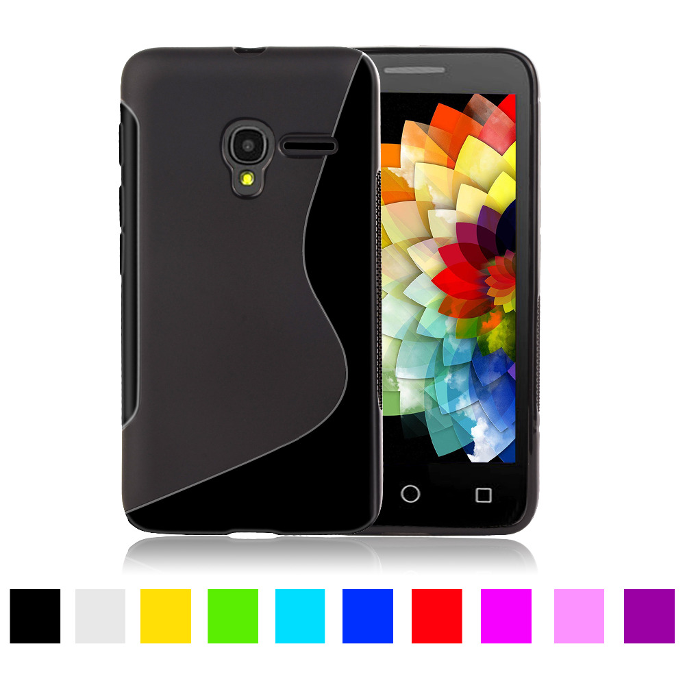 S line silicone tpu case for alcatel one touch pixi