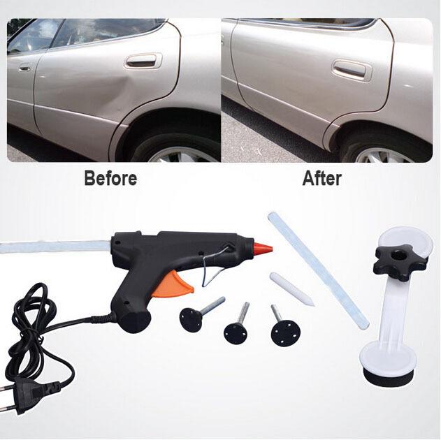 Hot Sale Auto Car Dent Ding Damage Repair Removal Tool Glue Gun DIY Car Repair Tools Kit Set()