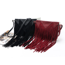 2016 New Brand designer women bag soft leather fringe crossbody bag shoulder women messenger bags crossbody bags for women