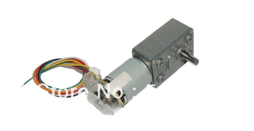 Diy jga25 371b 6 24v 115rpm dc gear motor encoder encoder for Dc gear motor with encoder