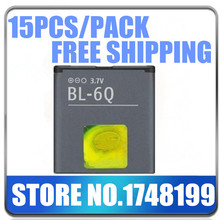 New Arrival Limited Top Sale 15Pcs/Pack BL-6Q Battery 970mah for NOKIA 6700C Mobile Phone Accessory High Quality