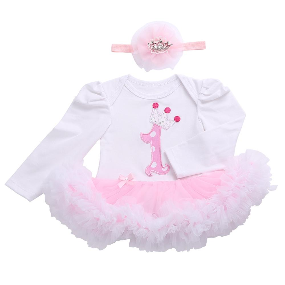 Roupas Para Meninas Lace Infant Flower Girl Dresses Headband Set,Winter Long Sleeve O-Neck Princess Baby Girl Birthday Outfit(China (Mainland))