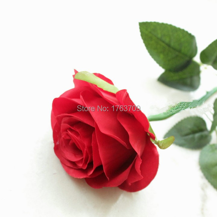 Hand Painting Valentine's Day Gift Artificial silk rose with long stem(China (Mainland))