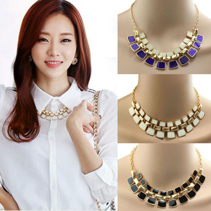 1PC Fashionable Hollow Out Enamel Punk Statement Alloy Necklaces Gift Freshipping Kimisohand(China (Mainland))
