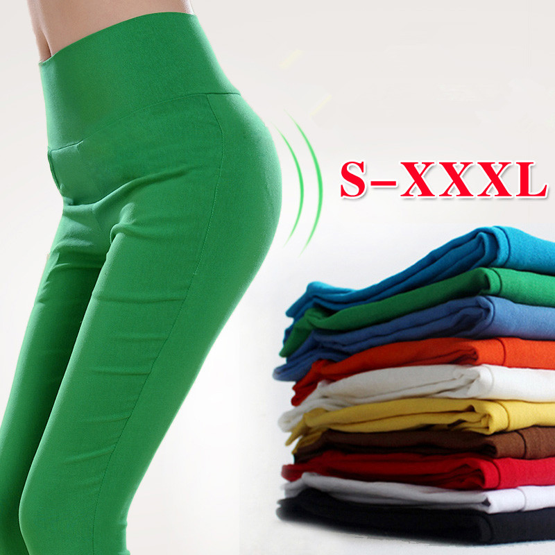 BIG DISCOUNT Glamourgirl summer candy color capris legging knee length trousers female thin plus size high waistОдежда и ак�е��уары<br><br><br>Aliexpress