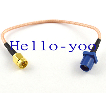 Free shipping (5pcs/lot) GPS antenna Extension cable Fakra C plug to SMA male plug pigtail cable RG316 15CM