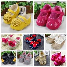 New Arrival Cute Baby Shoes Soft Bottom Breathable Princess Shoes Comfortable Fashionable Design Infant Shoes(China (Mainland))