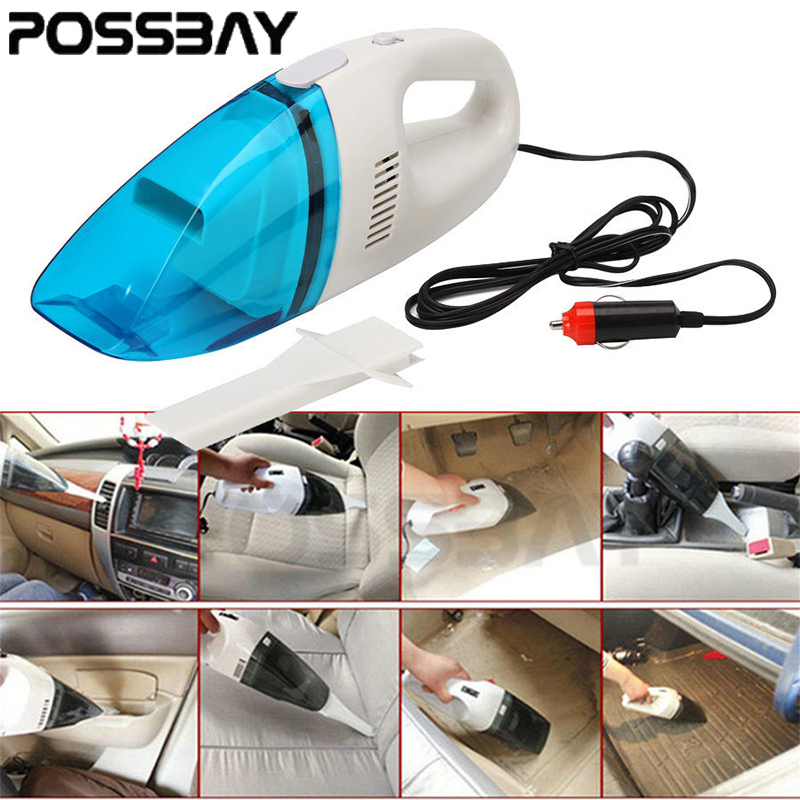 -95% OFF Blue Car Auto Dust Dirt Wet Dry Handheld Portable Vacuum Cleaner New Dust Dirt Garbage Use Auto Cigarette Lighter(China (Mainland))