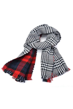 5 Pack Lady Women's Long Check Plaid Tartan Scarf Wraps Shawl Stole Warm Scarves Red