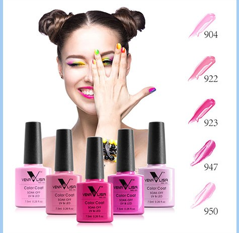 #61508 CANNI Gel Polish 2016 Hot Nail Art Design High Quality 60 Colors 7.5ml Venalisa Soak off Organic UV Nail Gel Varnish