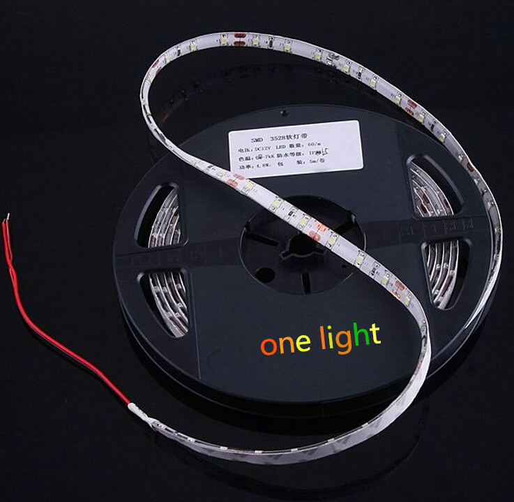 5 m 300LED IP65 tahan air 12 V SMD 5050 putih / dingin putih / merah / biru / hijau / kuning / RGB strip dipimpin, 60LED / m(China (Mainland))